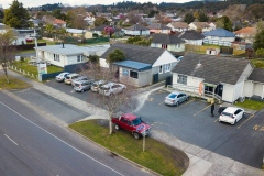 Aerial view of the Tarawera Medical Complex comprising Tarawera Medical Centre, Tarawera Pharmacy, Tarawera Physiotherapy and Pathlab